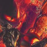 Uomo della lava Immagini Stock