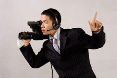 Uomo della macchina fotografica Immagine Stock