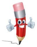 Uomo della mascotte della matita Fotografie Stock