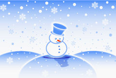 Uomo della neve illustrazione di stock