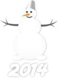 Uomo della neve Immagini Stock Libere da Diritti