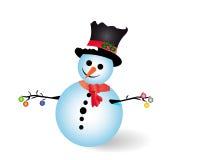 Uomo della neve Fotografia Stock