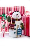 Uomo della neve di Natale Fotografie Stock