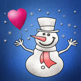 Uomo della neve, nuovo anno felice Immagine Stock Libera da Diritti
