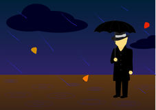 Uomo della pioggia Vettore Fotografie Stock