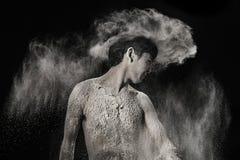 Uomo della polvere Fotografia Stock