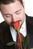 Uomo della Rosa Immagini Stock Libere da Diritti