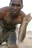 Uomo della sabbia Fotografie Stock Libere da Diritti