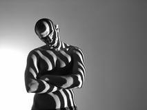 Uomo della zebra Fotografie Stock
