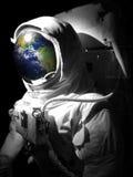 Uomo dello spazio dell'atronauta Fotografie Stock