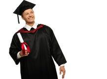 Uomo dello studente graduato Fotografie Stock