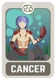 Uomo dello zodiaco: Cancro Fotografie Stock