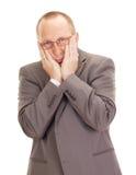 Uomo depressivo di affari Fotografie Stock