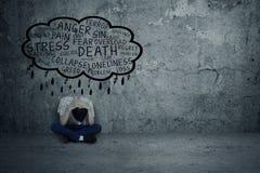 Uomo depresso Fotografia Stock