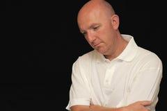 Uomo depresso Fotografie Stock Libere da Diritti