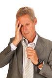 Uomo depresso di affari Fotografia Stock