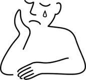 Uomo depresso triste Fotografia Stock Libera da Diritti