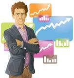 Uomo di affari illustrazione di stock