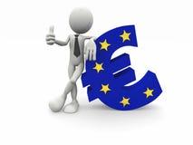uomo di affari 3d e l'euro simbolo illustrazione vettoriale