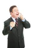 Uomo di affari - alito fresco per voi immagine stock libera da diritti