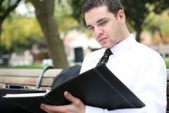 Uomo di affari all'esterno Fotografia Stock Libera da Diritti