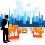 Uomo di affari che comunica Immagine Stock