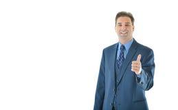 Uomo di affari che dà i pollici in su Immagini Stock Libere da Diritti