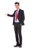 Uomo di affari che dà presentazione Immagini Stock Libere da Diritti