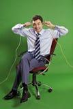 Uomo di affari che fa i fronti Fotografia Stock