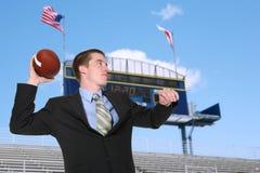 Uomo di affari che fa un passaggio Fotografie Stock