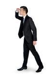 Uomo di affari che guarda lato Fotografie Stock