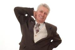 Uomo di affari che indica verso l'alto Immagine Stock