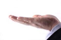 Uomo di affari che mostra biglietto da visita Immagine Stock