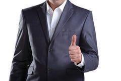 Uomo di affari che mostra pollice su 3 Fotografie Stock Libere da Diritti