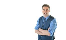 Uomo di affari che porta una maglia Immagine Stock Libera da Diritti