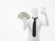 Uomo di affari che saing sì ai soldi Immagini Stock Libere da Diritti