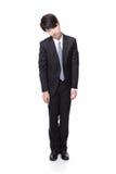 Uomo di affari che sembra deprimente da lavoro Fotografia Stock Libera da Diritti