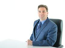 Uomo di affari che si siede Fotografia Stock Libera da Diritti