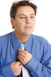 Uomo di affari che si veste per il lavoro Immagine Stock Libera da Diritti