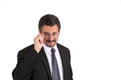 Uomo di affari con i vetri Fotografia Stock Libera da Diritti