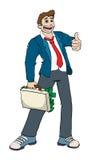 Uomo di affari con il ful della cartella di soldi Illustrazione di Stock