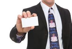 Uomo di affari con il legame di buon compleanno Fotografie Stock Libere da Diritti