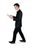 Uomo di affari con il pc del ridurre in pani Immagine Stock Libera da Diritti