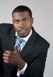 Uomo di affari con il pollice in su immagine stock