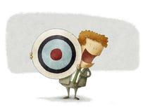 Uomo di affari con l'obiettivo Fotografie Stock
