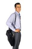 Uomo di affari con la cartella Immagine Stock