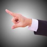 Uomo di affari con la mano vuota immagini stock libere da diritti