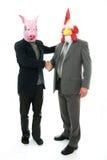 Uomo di affari con la mascherina Immagini Stock