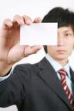 Uomo di affari con la scheda bianca Fotografie Stock