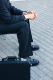 Uomo di affari con la sua cartella Fotografia Stock Libera da Diritti